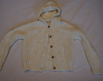 Vintage 1980's - Robinette Hooded Baby Sweater
