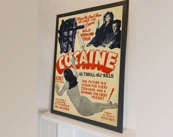 Cocaine Movie - Vintage Reproduction Wall Art Decro Decor Poster Print Any size