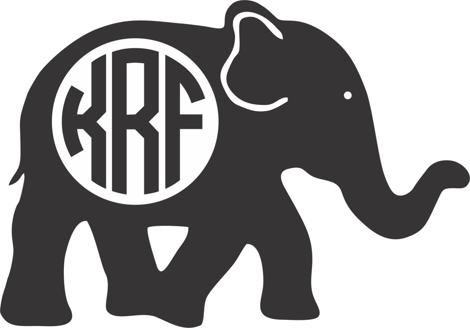 Create Your Own Car Sticker New Car Review And Release Date - Elephant monogram car decal