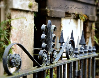 NEW ORLEANS CEMETERY Photograph ~ Grillwork ~ Lafayette Cemetery #1 ~ Garden District ~  Louisiana