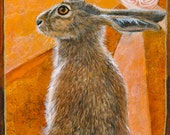 Hare of the Labyrinth Sun archival print