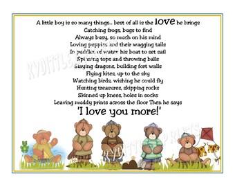 A Little Boy Is  So Many Things Boy's Poem Print Baby Nursery Child's Room Wall Art