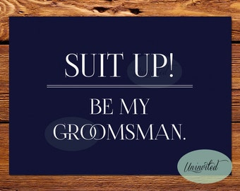 Printable Groomsman Invite - Printable Groomsmen Invite - Instant download, will you be my groomsman, groomsman invite, groomsmen invite