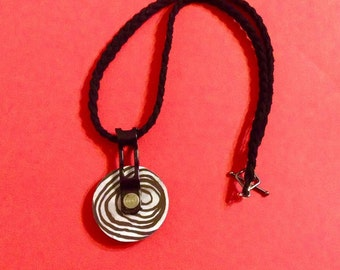 Steampunk Black and White Necklace