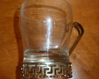 Vintage Glass Coffee Cup