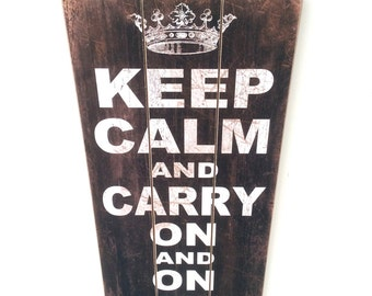 Keep Calm and Carry On And On And On And On - Funny Humor Sign