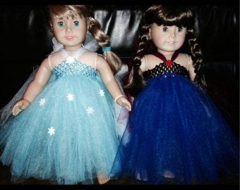 Elsa and Anna Frozen American Girl dresses