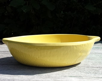 Dishes. Large flat yellow lemon form, Terra cotta. 1970s. 70's. sign Mars.French vintage