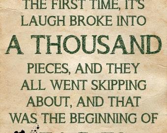 Peter Pan Nursery Quote Printable