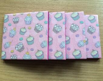 Cupcake Tile Coasters