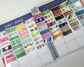 Mixed Pack of Holiday Washi Stickers for Erin Condren Life Planner or Plum Paper Planner