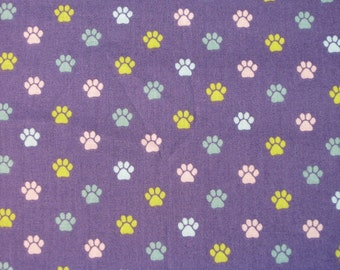 Baby Crib Sheet  or Toddler Bed Sheet with Puppy Paw Prints