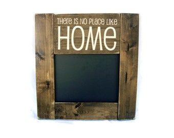 Chalkboard Rustic Wood Framed Gift Wall Decor - There is No Place Like Home (#1095-CB)