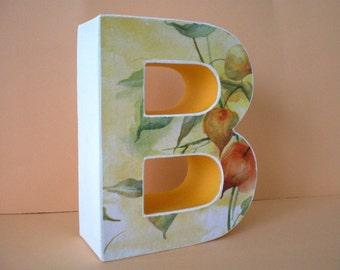 Initial / Monogram / 3D-Buchstabe / letter B