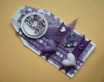 Gift cards, gift tags, tag in purple / lavender