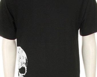 White Skull Print Shirt