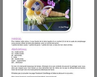 Sirène en crochet : tuto by Creamarge