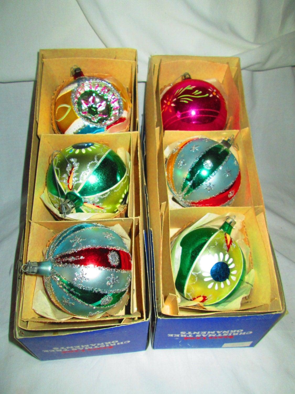 Vintage 1950 39 S Christmas Ornaments Mercury Glass