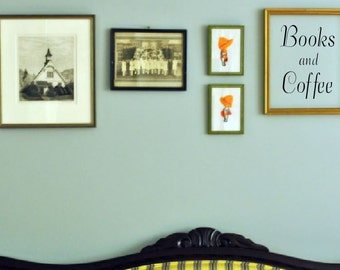 Books and Coffee- wall decal