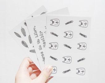 Doodle postcards - Set of 3