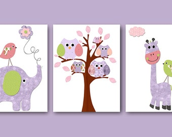 Digital Print Digital Download Instant Download Baby Nursery Decor Baby Girl Nursery Decor Download Digital Art Download set of 3 8x10 11X14