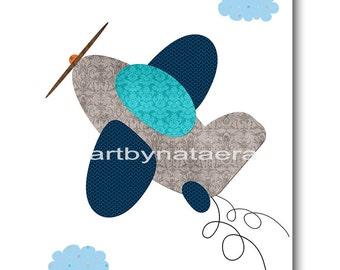Playroom Art Digital Download Plane Nursery Art Digital Art Baby Boy Nursery Art Printable Art Instant Download Kids Room Decor 8x10 11X14