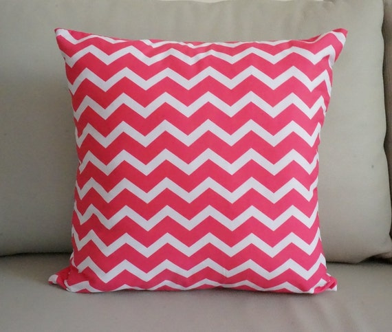 Throw Pillows Rules : Items similar to SALE Raspberry Chevron Pillows pink cushion Raspberry pink decorative throw ...