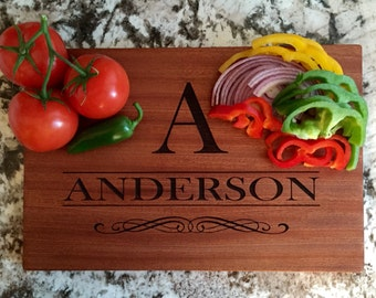 """Mahogany Cutting Board 10x15 (3/4"""" thick)- Anderson Style"""