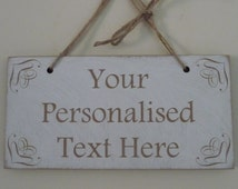 Personalised Any Wording Shabby Chic Wooden Sign, EXTRA LARGE SIZE, Large Custom Plaque, Any Language Custom Gift, Wedding , Mothers Day
