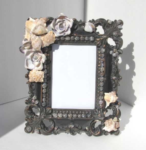 items similar to masculine seashell picture frame on etsy