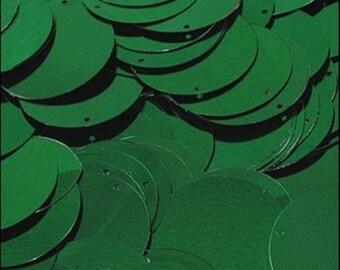 Metallic Emerald Disc Sequins 24mm - JR02845