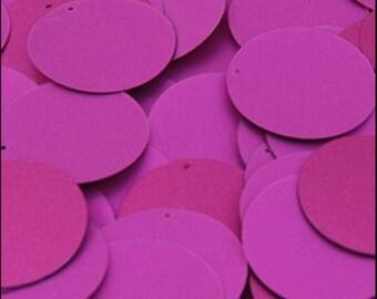 Matte Fuchsia Disc Sequins 24mm - JR02866