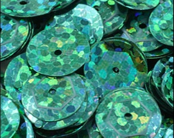 Hologram Amazon Green Cupped Sequins 8mm - JR02714