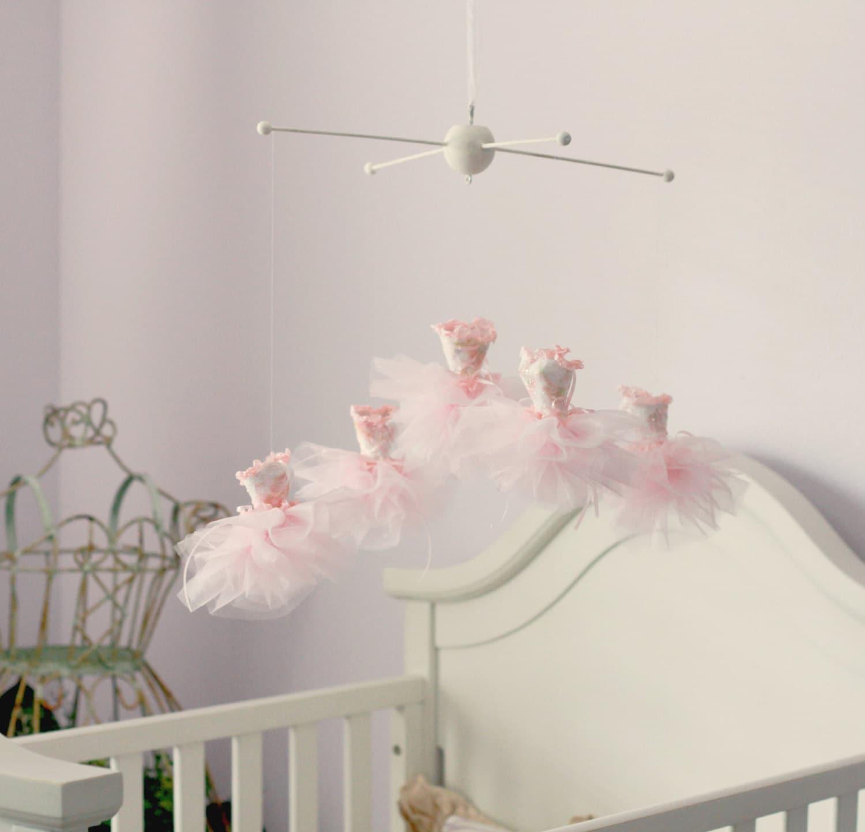 Princess mobile ballerina mobile elegant nursery by for Princess crib mobile