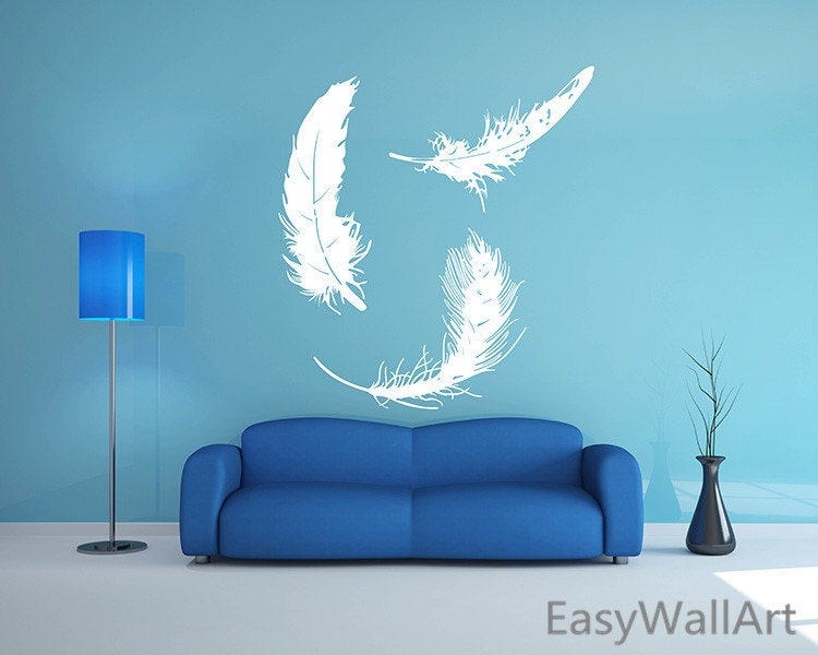 Umbra Feather Wall Decor : Feathers wall decal feather art sticker