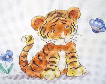 KL50 Toto, the little Tiger Counted Cross Stitch Kit