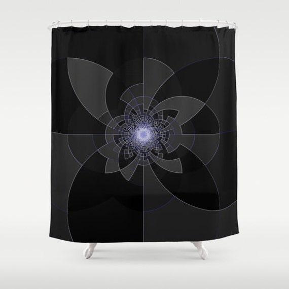 Shower Curtain Tron Shower Curtain Black White By 2sweetshomedecor