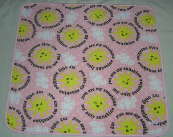 You are my sunshine fleece baby blanket, toddler blanket