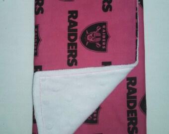 Pink Raiders Burp Cloth