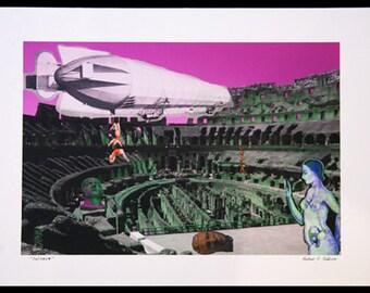 coliseum - print on archival canvas