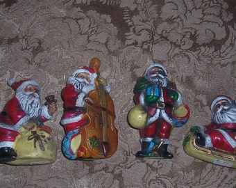 Vintage Santa Clause Ornaments.