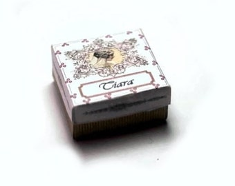 Bridal Tiara Box Dolls House Miniature