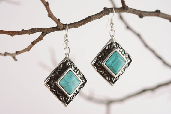 "Earrings ""Argo"" with turquoise"