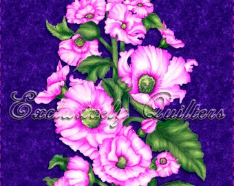 Hollyhocks Panel