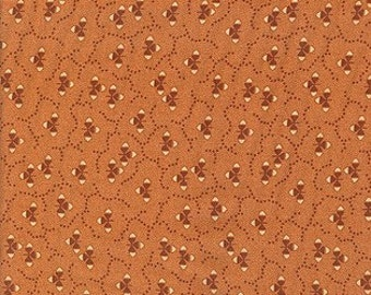 Thimbleberries - Village Green Orange Abstract Fabric