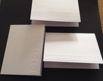 Embossed Note Cards