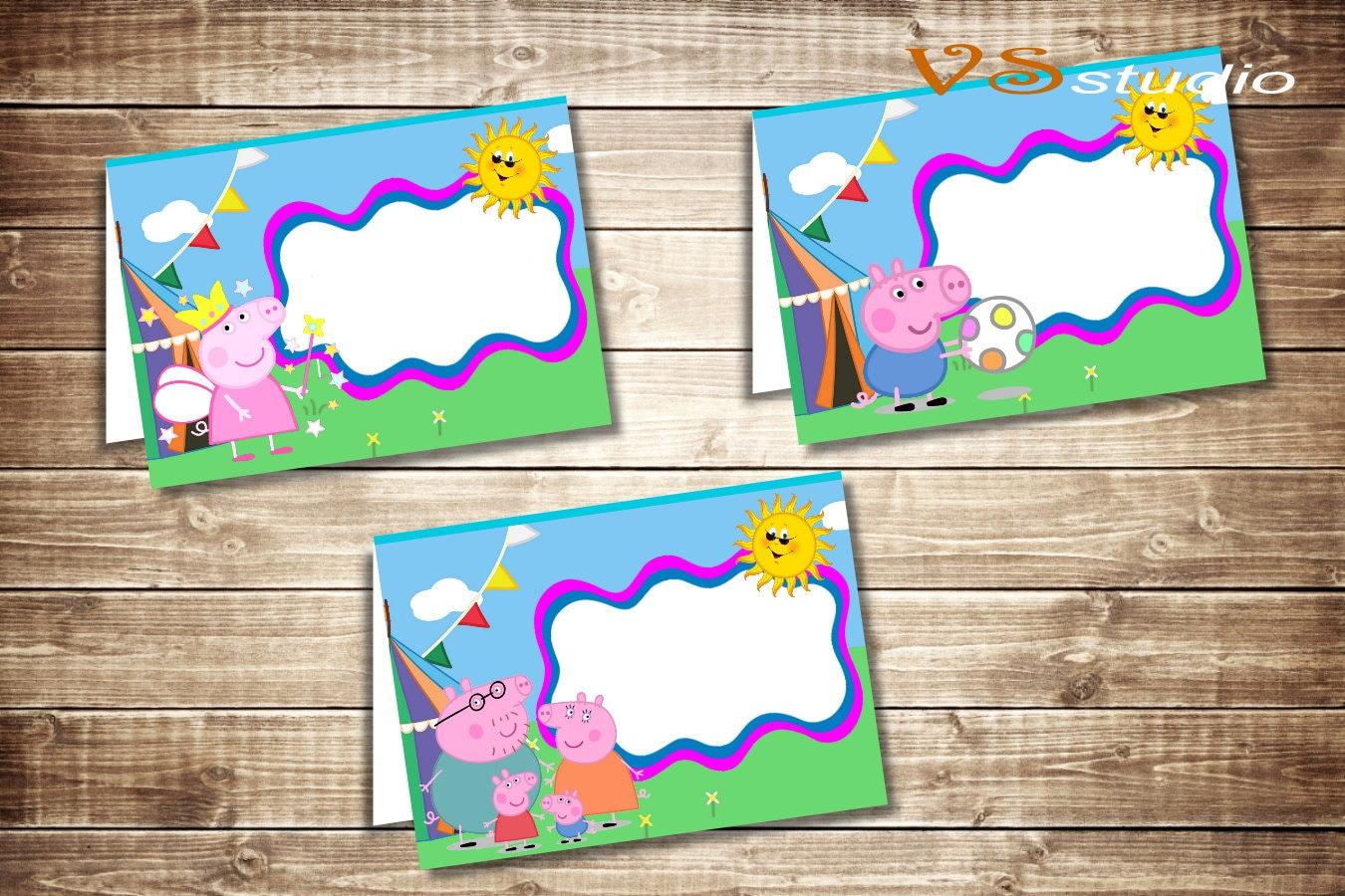 peppa pig food labels peppa pig food tents cards tags