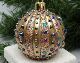 Gold Crown Jewels Christmas Ornament
