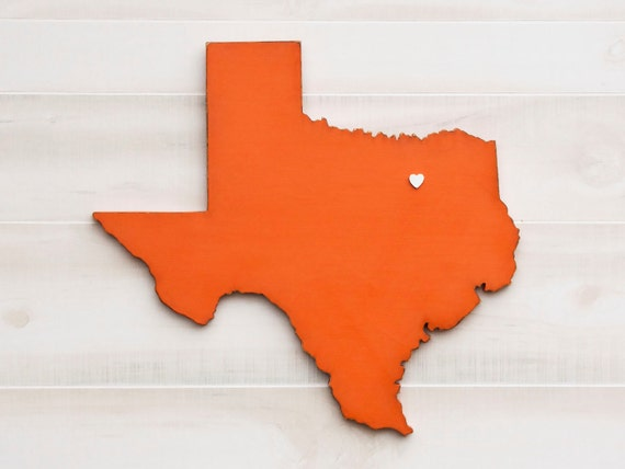 Texas State (Medium) Wood Cut Out - Laser Cut Cut Outs. - Pinterest