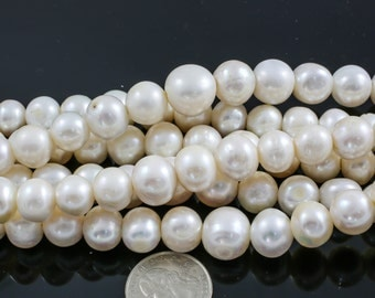 12-15mm Large Hole Freshwater Pearl, Half strands!